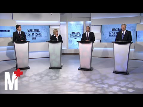 Trudeau and Harper argue on PM's economic record: Maclean's debate