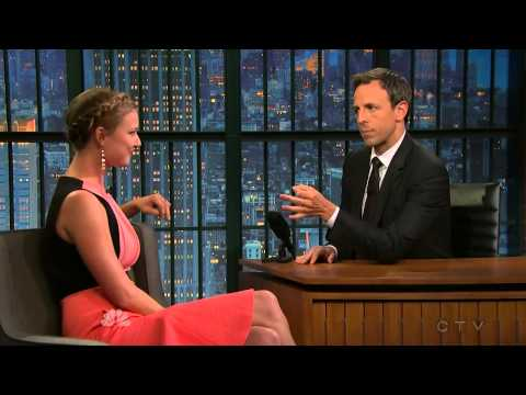 Emily VanCamp at Late Night with Seth Meyers September 25 2014