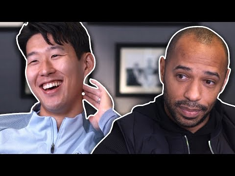 Why is Son always smiling?   Thierry Henry Meets Heung-Min Son