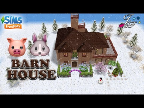 The Sims FreePlay 🐷🐴🐰| BARN HOUSE |By Joy.