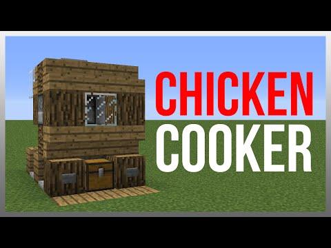 Minecraft 1.8: Redstone Tutorial - Chicken Cooker v2!