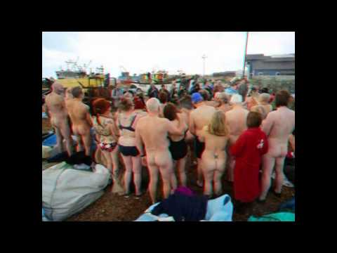 Hastings beach nude stunt aimed at Spencer Tunick