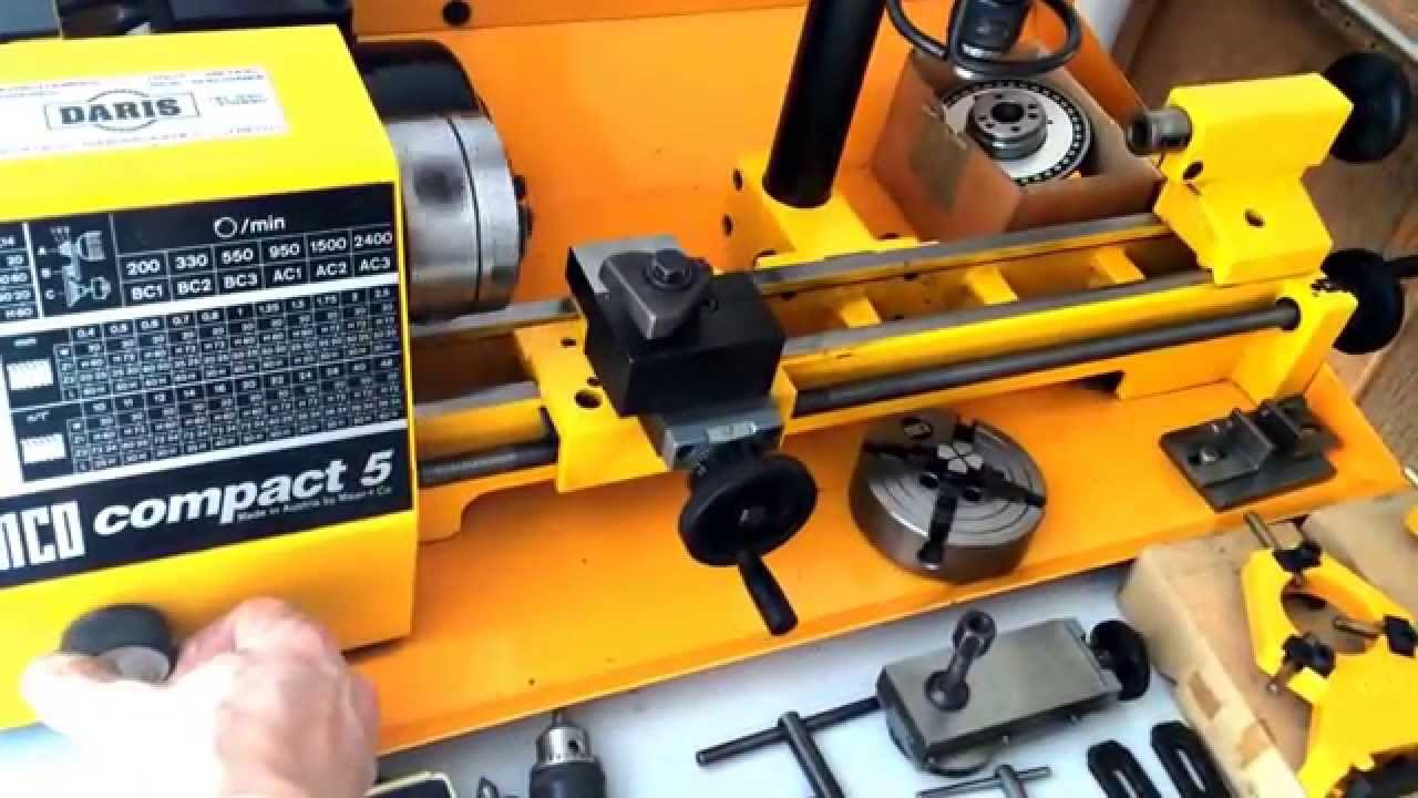 Sold Emco Compact 5 Lathe On Nielsmachines Com Youtube
