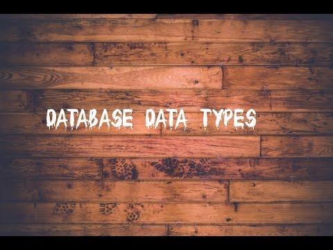 Database Data types