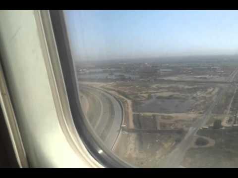 الهبوط في مطار بغداد الدولي Landing in Baghdad International Airport