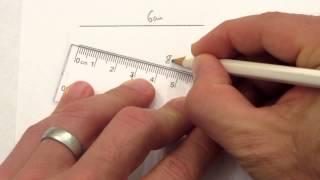 1 Measuring line to nearest cm
