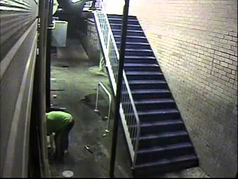 Arson CCTV footage at Weston Cafe