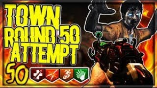 """""""TOWN"""" ROUND 50 CHALLENGE! (Call of Duty Black Ops 2 Zombies) BO4 HYPE!"""