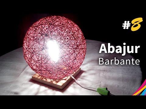 Abajur de Barbante (Base) - Table Lamp Of Twine - Lámpara de Mesa con Hilo - DIY #8