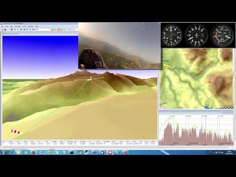 Aliante ASH25 Volo in costone Parte 2 182 km a 142 km ora Pilota Ezio Sarti