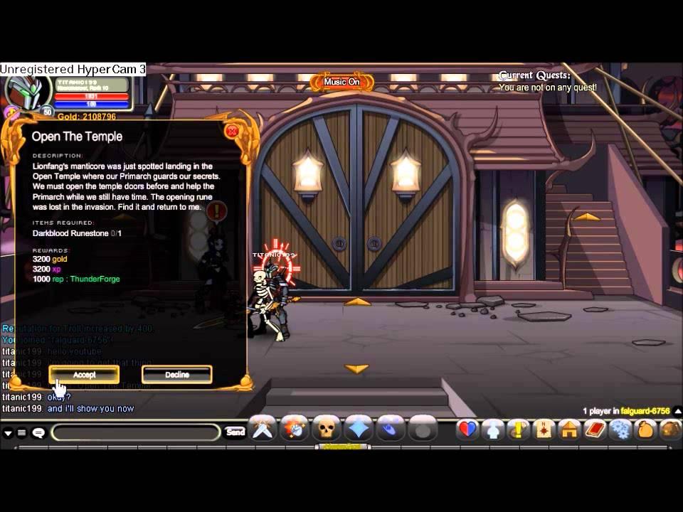 aqw temple quest level 12