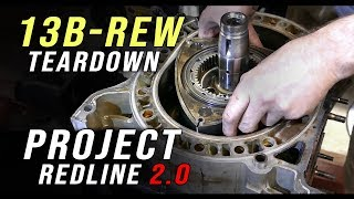BACKYARD MECHANICS |13B rotary engine tear down | Project Redline 2.0 Ep 18 | fullBOOST