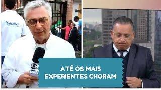 Ari Peixoto e Galvão Bueno chorando ao vivo ao falar do acidente da chapecoense
