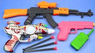 Box Full Of Toys with Realistic Police Military Toy Guns Equipment for Kids - Toy Guns Toys for Kids