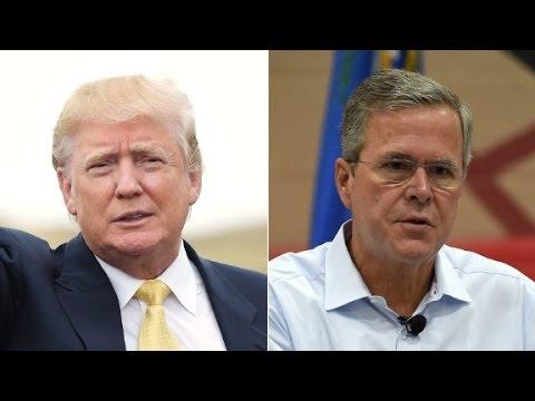 Political pundits spar over coverage of Bush, Trump