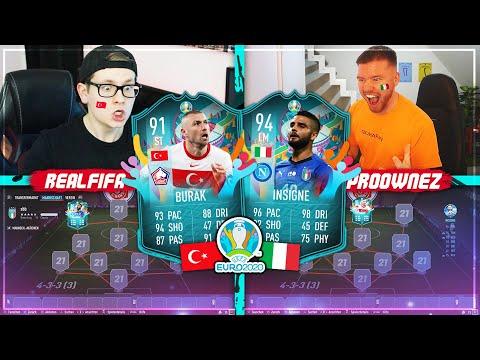 FIFA 21: TÜRKEI vs ITALIEN EURO 2020 Squad Builder Battle 🔥🔥 Proownez vs Realfifa