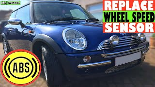 Mini ABS Wheel Speed Sensor Replace - How to replace ABS Wheel Speed Sensor on Mini R50 R53