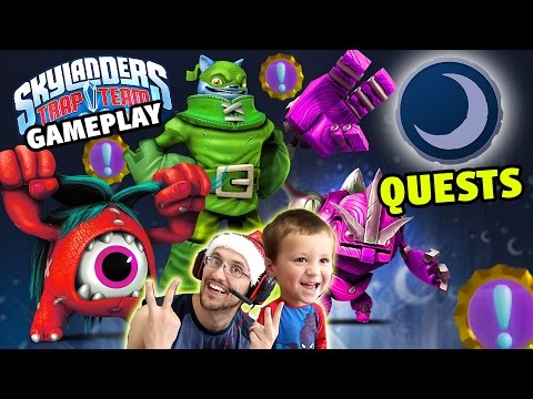 Dark Villain Quests + Evolved Gameplay! Eye Scream, Fisticuffs & Nightshade (Skylanders Trap Team)