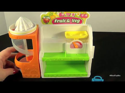 Shopkins Easy Squeezey Fruit & Veg Stand Playset! Review by Bin's Toy Bin