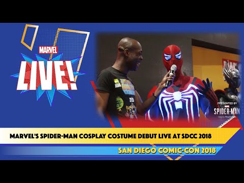 Marvel's Spider-Man Cosplay Costume Debut Live at SDCC 2018