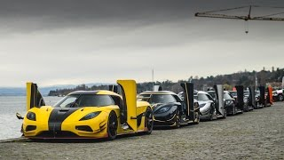 7 Koenigseggs TAKE OVER Geneva! Wheelspin, Flames and more!