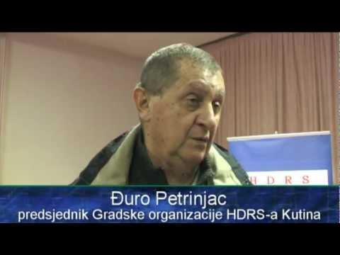 Izbor predsjednika Gradske organizacije HDRS-a Kutina