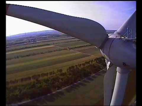 Flying Through A Huge Wind Turbine, Enercon E-82 FPV RC Helicopter Heli Stunt Blades Mill Funny Fail