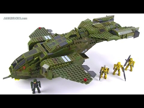 Mega Bloks Halo 96824 UNSC Pelican Dropship (2010 version) reviewed