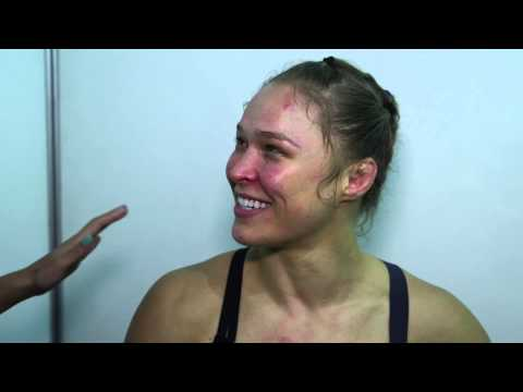 UFC 190: Ronda Rousey Backstage Interview