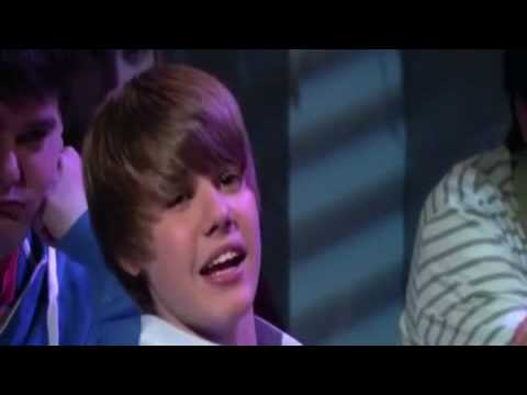Baby Justin Bieber FLIPS OUT Somebody To Love Kiss And Tell Never Say Never Let You Go Eenie Meenie Video