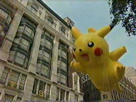 Pikachu Balloon In Macys Thanksgiving Day Parade 2007 YouTube