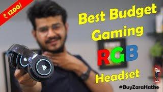Best Budget RGB Bluetooth Wireless Headphones   Gaming headset under 1200   PUBG , CS, Fortnite