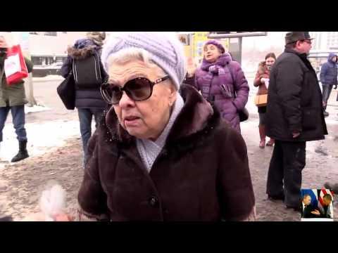 Митинг в России против Путина! Прохожие кричат  зато крым наш!
