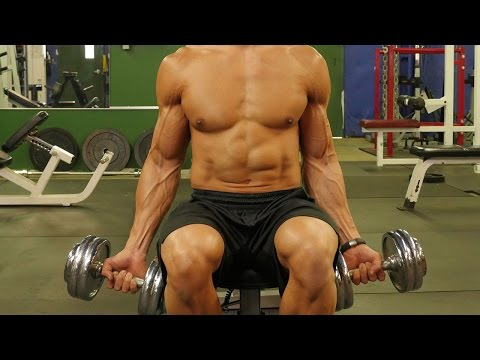 Crazy Biceps Dropset Workout - Six Pack Shortcuts