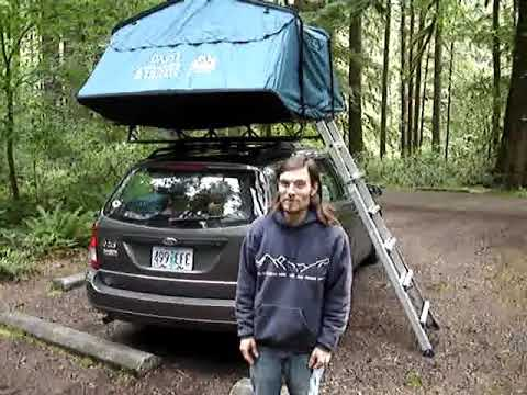 Roof Top Tent Camper Van Youtube