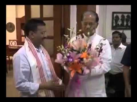 Assam CM Sh. Tarun Gogoi calls on CM Sh. Arvind Kejriwal. April 8, 2015