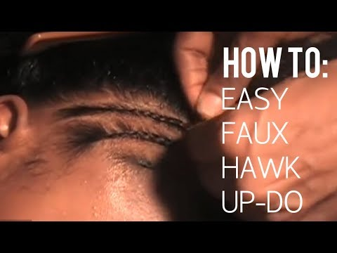 How to do a quick & easy Braided Mohawk on natural hair