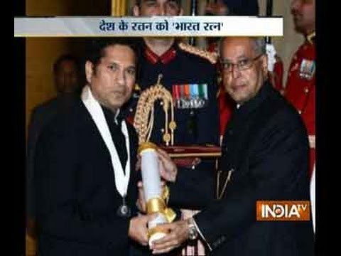 Sachin Tendulkar awarded with Bharat Ratna