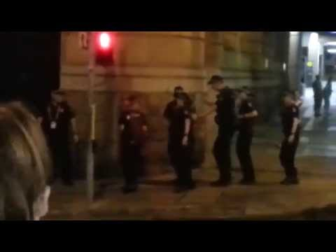 G20 Brisbane Police accepting the Nutbush challenge