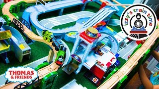 Thomas and Friends   THOMAS ELEVATED TRACK CHALLENGE with Tomica Hot Wheels   Toy Trains for Kids
