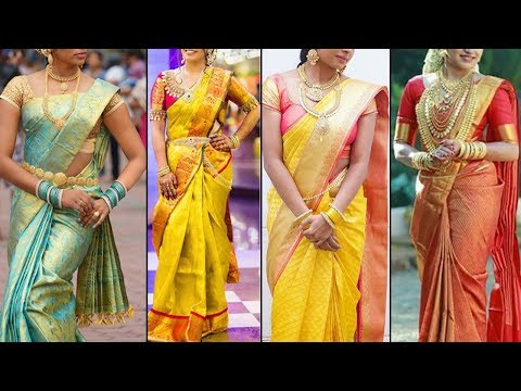 Latest 2019 Bridal Pattu Saree Blouse Designs Designer Saree Blouses | Indian Fashion