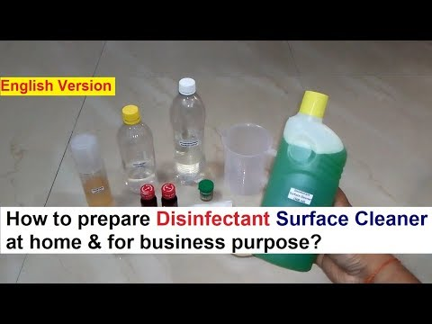 Disinfectant Surface Cleaner Making 100% Real Fomula