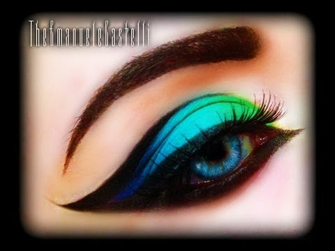 Spring Make Up Tutorial - Exotic, Sexy, Colorful And Bright Cat Eye (trucco Primaverile) Fashion video