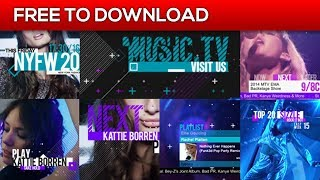Music and Entertainment TV Broadcast Pack   After Effects Template   Free Download