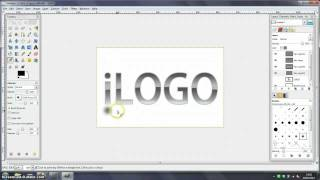 GIMP Tutorial - Glossy Logo with Shadow and Reflections