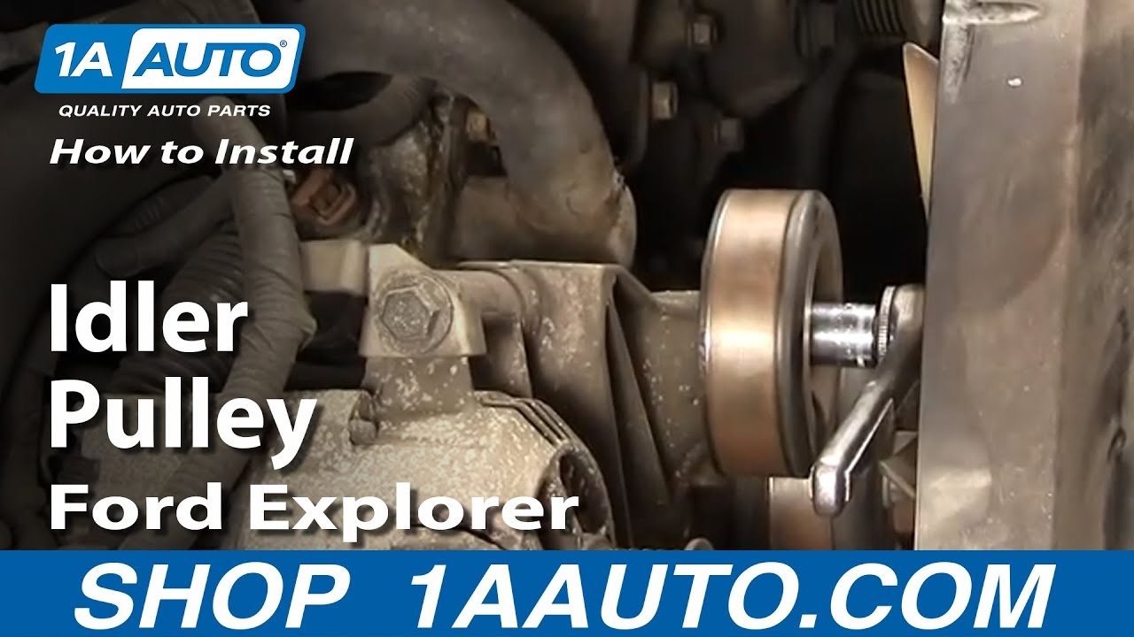 How To Install Replace Noisy Idler Pulley Ford Explorer 91