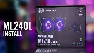 HOWTO Install Cooler Master MasterLiquid ML240L RGB on Socket 1151 and 2066