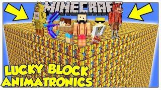 LA SFIDA DEI LUCKY BLOCK GIGANTI DEGLI ANIMATRONICS! - Minecraft ITA