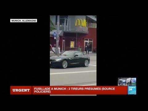 """Images amateur - """"Situation terroriste"""" à Munich en Allemagne : Au moins 9 morts"""