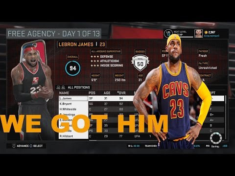 NBA 2K16 My Gm Boston Celtics - Free Agency Signing - Lebron James Welcome To Boston